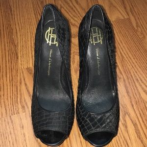 House of Harlow 1960 Shoes - HOUSE OF HARLOW 1960 PLATFORM HEELS-SIZE 37.5, 7.5